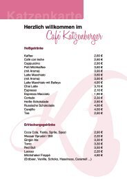 Katzenkarte - Café Katzenberger