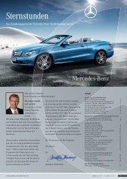 Das Kundenmagazin Der Mercedes-Benz Niederlassung Aachen