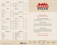Aperitifs Biere Alkoholfrei Kaffee & Tee Weine, weiß ... - Asado Steak