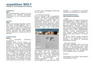 Anhang II - expedition WELT