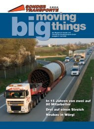 Sondertransporte moving big things - Sondertransporte GmbH