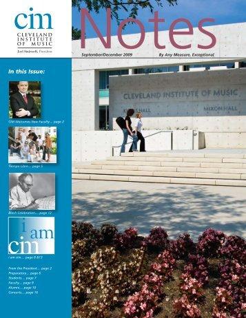 Fourth Quarter 2009 - Cleveland Institute of Music