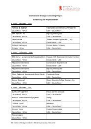 International Strategic Consulting Project Aufstellung der ... - Adlershof
