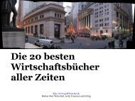 Die 20 besten Wirtschaftsbücher aller Zeiten - Geld-Bücher.de