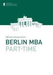 IMB Institute of Management Berlin - MBA