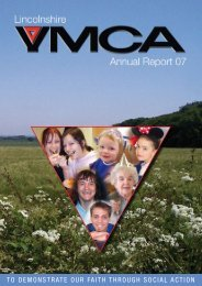 to demonstrate our faith through social action - Lincolnshire YMCA