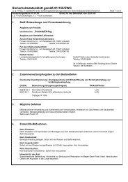 Sicherheitsdatenblatt gemäß 91/155/EWG - Sigron