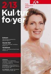 Kulturfoyer 02/2013 - Freie Volksbühne Berlin