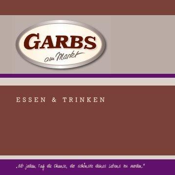 GARBS Speise- u. Getränkek. 2010 - Garbs am Markt