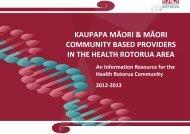 kaupapa māori & māori community based providers in the health ...