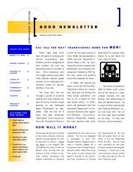 Special Edition 2009 Newsletter - Compassion In Action Inc