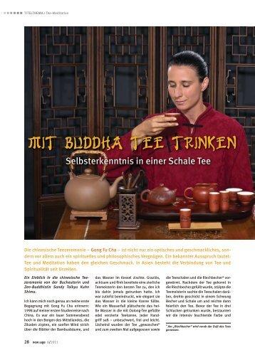 Mit Buddha Tee trinken - taikyu.ch