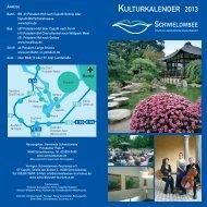 KULTURKALENDER 2013 - Gemeinde Schwielowsee