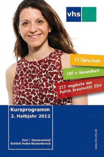 VHS FüR FRAUEN - Volkshochschule Harsewinkel Schloß Holte ...
