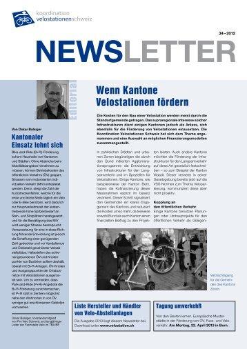 DeZember 2012 - Koordination Velostationen Schweiz