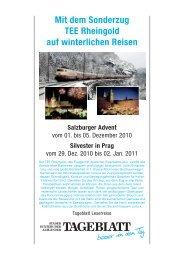 Mit dem Sonderzug TEE Rheingold auf winterlichen Reisen