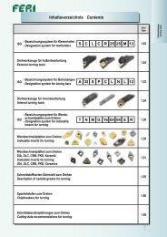 Inhaltsverzeichnis Contents - bei FERI Werkzeuge