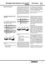 Montaggio delle tubazioni e dei raccordi filettati Corso base