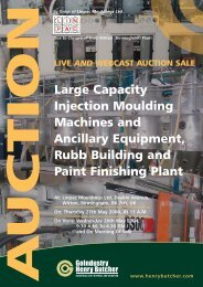 Large Capacity Injection Moulding Machines and Ancillary ...