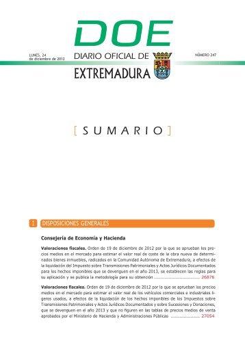 DISPOSICIONES GENERALES I - Diario Oficial de Extremadura