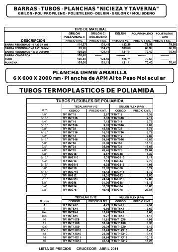 TUBOS TERMOPLASTICOS DE POLIAMIDA - CRUCECOR
