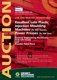 Excellent Late Plastic Injection Moulding Power Presses (To 500 Ton),