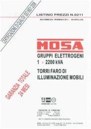 Listino gruppi elettrogeni 2011