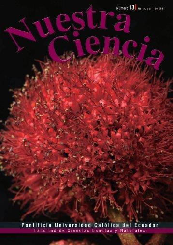 Revista Nuestra Ciencia (PUCE). - Escuela de Ciencias Biológicas ...