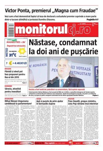 "Victor Ponta, premierul ""Magna cum Fraudae"" - Monitorul de Cluj"