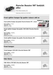 Porsche Boxster 987 bodykit offer - invenio.com.pl