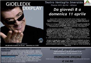 Da giovedì 8 o domenica 1 1 aprile - CRI S.O.P. Milano