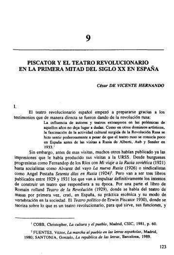 Piscator y el Teatro Revolucionario en la Primera Mitad del Siglo XX ...