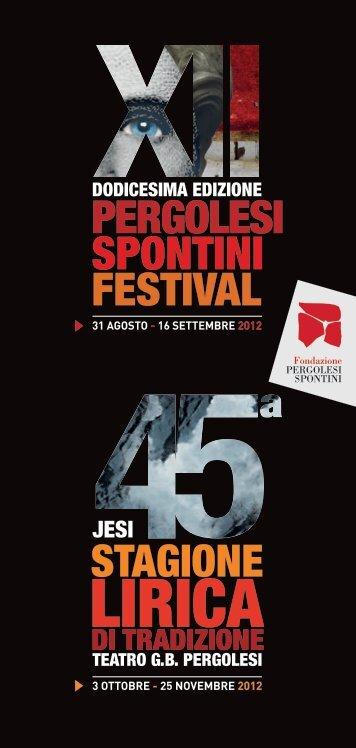 scarica la brochure - Fondazione Pergolesi Spontini