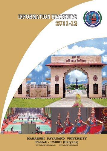 Information brochure - MDU, Rohtak
