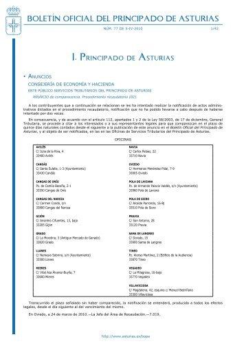 Boletín Oficial del Principado de Asturias - Gobierno del principado ...
