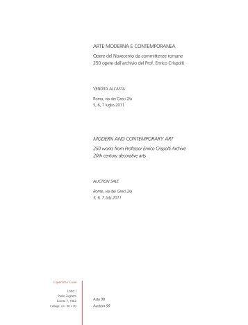 1° Tornata (5.194 KB) - Aste Babuino