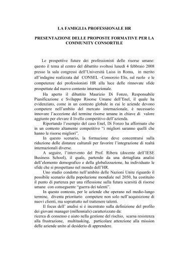 LA FAMIGLIA PROFESSIONALE HR ... - TECA ELIS