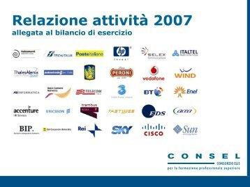 Relazione annuale Consel 2007 - TECA ELIS