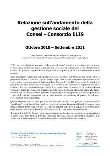 La relazione 2010-11 - TECA ELIS