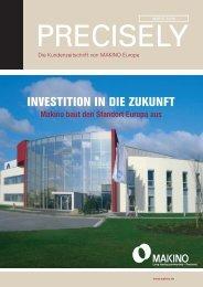 INVESTITION IN DIE ZUKUNFT - Makino Europe GmbH