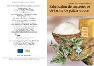 Fabrication de cossettes et de farine de patate douce - TECA