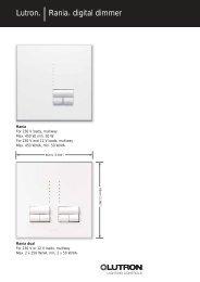 Lutron® |Rania® digital dimmer - Lutron Lighting Installation ...
