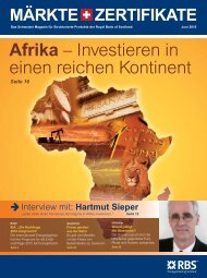 in Afrika investieren. - The Royal Bank of Scotland plc