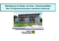 Wohngenuss im Süden von Graz - Raiffeisen Wohntraumcenter ...