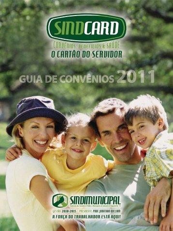 Guia de convênios 2011 - Sindcard