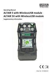 MSA ALTAIR 5X-Operating Manual.pdf - Ribble Enviro Ltd