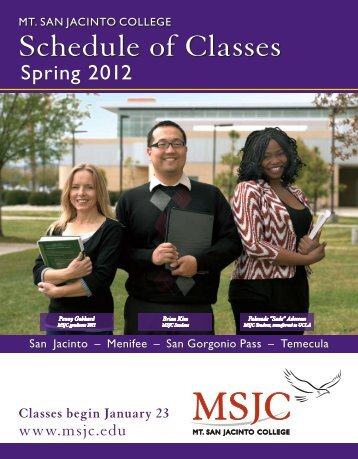 Spring 2012 Schedule of Classes (PDF) - Mt. San Jacinto College