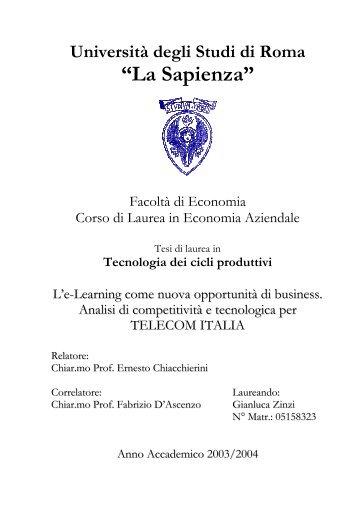 """""""La Sapienza"""" - TECA ELIS"""