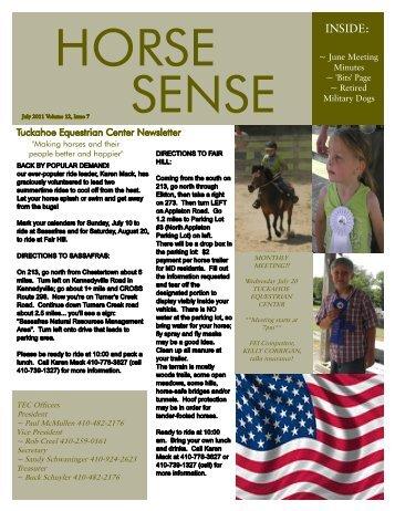 July 2011 TEC Newsletter * - Tuckahoe Equestrian Center