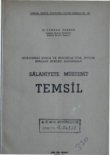 TEMSİL - Ankara Üniversitesi Kitaplar Veritabanı